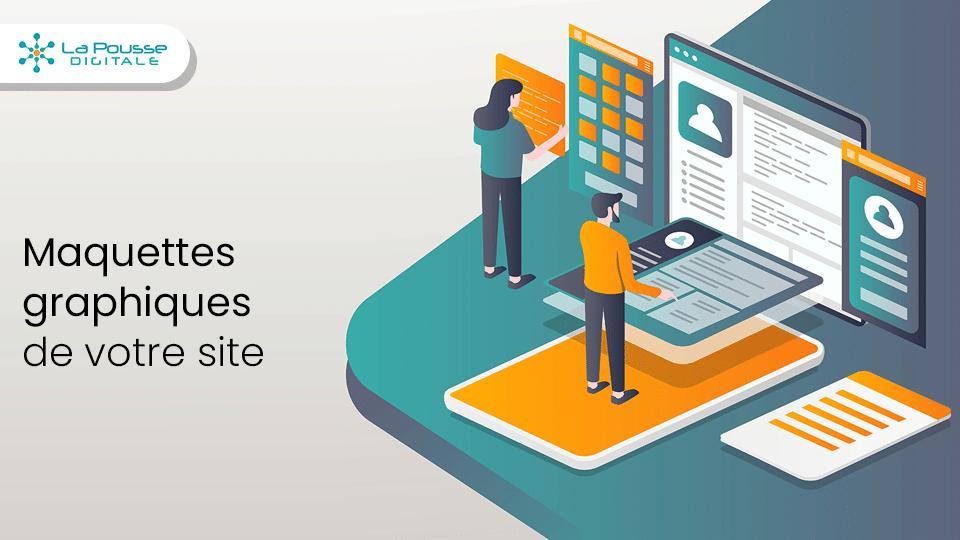 Créer les maquettes graphiques de votre site web