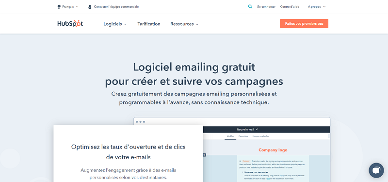 Logiciel emailing HubSpot